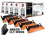 5 Original Reton Toner, kompatibel, nach (ISO-Norm 19798) ersetzt CLT-P406C für Samsung CLP-360 CLP-365 CLP-365W CLX-3300 CLX-3305 CLX-3305FN CLX-3305FW CLX-3305W Xpress C410W Xpress C460FW C460W