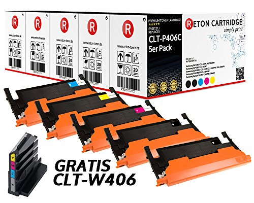 Preisvergleich Produktbild 5 Original Reton Toner, kompatibel, nach ( ISO-Norm 19798 ) ersetzt CLT-P406C für Samsung CLP-360 CLP-365 CLP-365W CLX-3300 CLX-3305 CLX-3305FN CLX-3305FW CLX-3305W Xpress C410W Xpress C460FW C460W