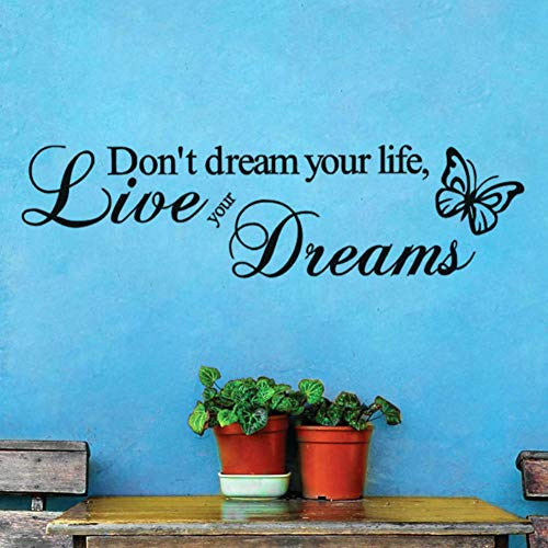 daufkleber Kinder Wohnzimmer Dekoration Schmetterling Wanddekor Vinyl Home Art Decals Aufkleber 57 * 15 ()