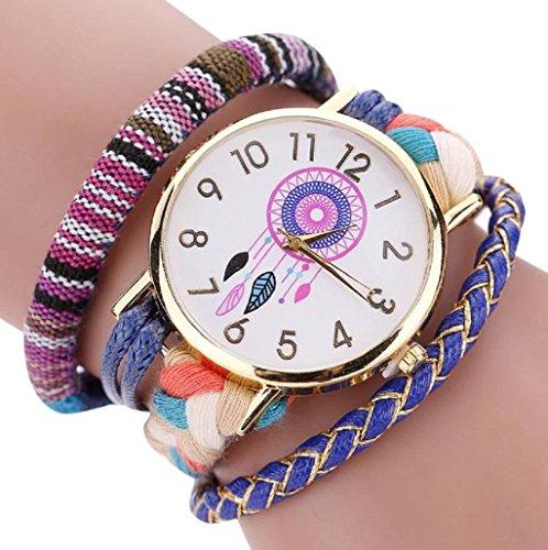 Sannysis Dreamcatcher Amistad Pulsera Relojes vestido de las mujeres del reloj de...