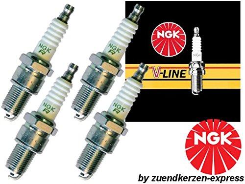 NGK V-LINE 23 BKR5EK 4483 Zündkerzen, 4 Stück