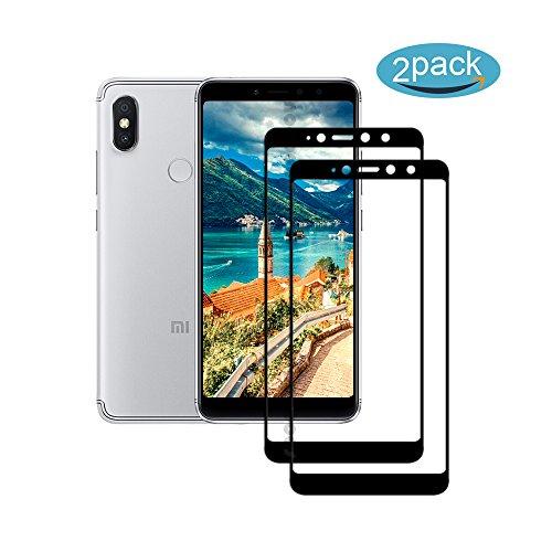 [2 Pack] Für Xiaomi Redmi S2 / Redmi Y2 Panzerglas Schutzfolie (Schwarz), Bildschirmschutzglas Panzerfolie für Xiaomi Redmi S2 / Redmi Y2 Schutzglas Folie [Ultra-klar] [9H Härte] [Kristallklar]