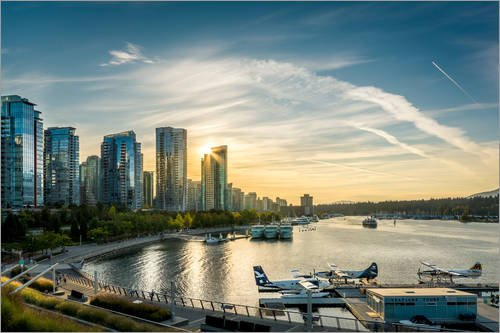 canvas-print-60-x-40-cm-vancouver-harbour-flight-centre-by-andreas-kossmann-ready-to-hang-wall-pictu