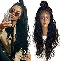 Synthetic Lace Front Wigs for Women Long Natural Wave Heat Resistant Fiber with Baby Hair Natural