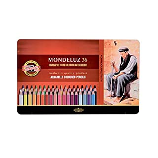 KOH-I-NOOR 3725 Mondeluz Aquarell Coloured Pencils - Assorted Colour (Set of 36)