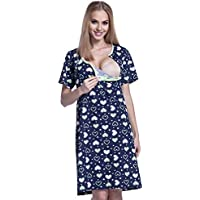 Happy Mama Premaman camicia da notte / pigiama cuori VENDUTI