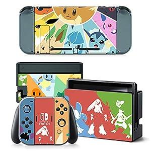 THTB Nintendo Switch + Controller Aufkleber Schutzfolien Set – Pokemon (2) /Switch