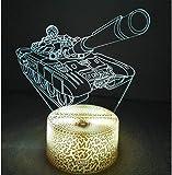 3D Panzer Optical Illusions LED Lampen Tolle 7 Farbwechsel Berühren Tabelle Schreibtisch-Nacht Licht Mit USB-Kabel für Kinder Schlafzimmer Geburtstagsgeschenke Geschenk