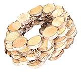 handgefertigter Kranz aus Birkenscheiben Dekokranz Holz Natur Größe Circa 30 x 30 x 8 cm