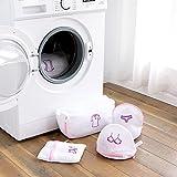 GUOYIHUA Mesh Wäschesäcke, Reißverschluss Mesh Wäsche Staubbeutel faltbar Dessous BH Socken Unterwäsche Waschmaschine Kleidung Schutz Net, Netz, for bra