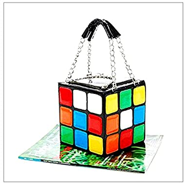 HQdeal New Women Magic Cube Leather Handbag Evening Clutches