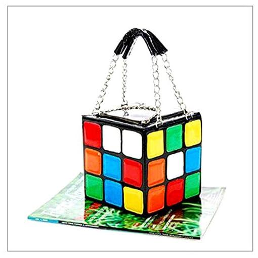 HQdeal New Women Magic Cube Leather Handbag Evening Clutches