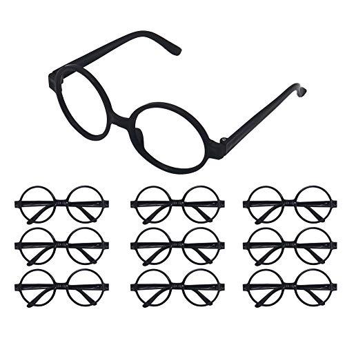 Shintop 24 Stück Zaubererbrillen, Runder Brillenrahmen für Kinder, Halloween Kostüm, Harry Potter Bedarf für Kostümpartys