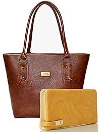 EDGEKART Premium PU Leather Women's And Girl's Handbag And Wallet Clutch Combo_ET02