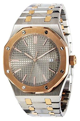 PARNIS 9052 sportlich-elegante Herren-Automatikuhr 5BAR Wasserdicht 41mm Herrenuhr Saphirglas massives Armband mit Butterfly-Schließe MIYOTA Markenuhrwerk Kaliber 821A