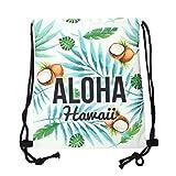 cosey - Sacca sportiva con stampa Allover - Stampato - Design Aloha Hawaii