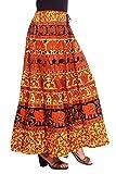 Kastiel Printed Women's Regular Orange Skirt