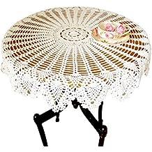 Hecho a mano Crochet encaje de algodón mesa sofá redondo de servilleta piña flor mantel Doilies, para muebles decoración de bodas blanco zq04