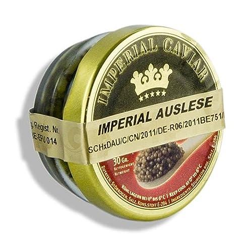 Imperial Auslese Kaviar, Kreuzung Amur x Beluga Stör (schrenckii x dau), 30g. | Sparset mit Lacross-Schreibblock