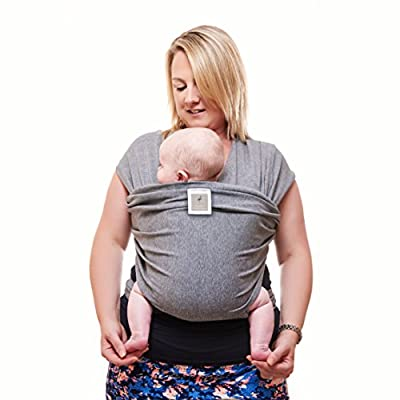 Premium Baby Carrier | Neutral Grey | One Size Fits All | Cozy & Soothing For Babies | Suitable for Newborns, Infants & Toddlers | Cotton/Spandex Comfort Fabric |100% Infinity Guarantee | Ideal Gift  Brandworl