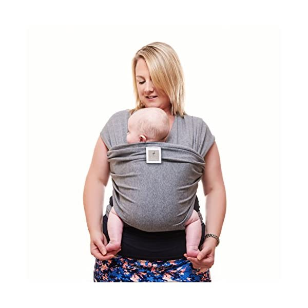 Premium Baby Carrier | Neutral Grey | One Size Fits All | Cozy & Soothing For Babies | Suitable for Newborns, Infants & Toddlers | Cotton/Spandex Comfort Fabric |100% Infinity Guarantee | Ideal Gift Funki Flamingo ENJOY FREE HANDS AGAIN: Get your freedom back. Do housework, grab a coffee, shop & tend to other kids while keeping baby close. Baby stays happy while you're more productive & less stressed. Great for fussy babies! STRENGTHEN BOND WITH BABY: Forging a close bond with your infant is vital to their development. Our wrap keeps baby close to your warm body & heartbeat where they feel safe & secure. For newborn - 35 lbs. UNBEATABLE QUALITY: Manufactured with premium materials to ensure years of use and repeated washings. Sturdy fabric holds your baby safely & securely. This is a wrap you'll pass on to friends and family! 1