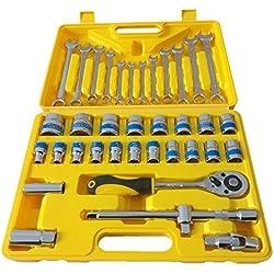 Steckschlüsselsatz,für die gängigsten Schraub-Aufgaben in Handwerk, Industrie und beim Heimwerken