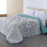 Barceló Hogar - Edredón Conforter Reversible Happy - Edredón Estampado de 350 gr, Edredón Juvenil 180x270, Edredón Cama 90 Invierno.