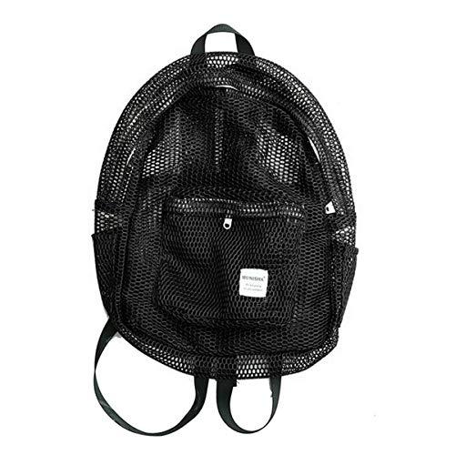 Simplife Perfekter Sackpack mit Ballnetz für alle Sportarten - Sporttasche für Männer und Frauen, Einkaufstasche, Sportbeutel, Leichter Rucksack, Fußballtasche Mesh Bag