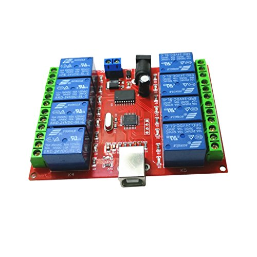 Homyl 5V USB Relais Modul 8 Kanal Programmierbare Computersteuerung für Smart Hause Design