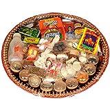 Aone India Complete Puja Thali For Diwali Set 36 Items (29.4 Cm X 11.62 Cm X 11.62 Cm)