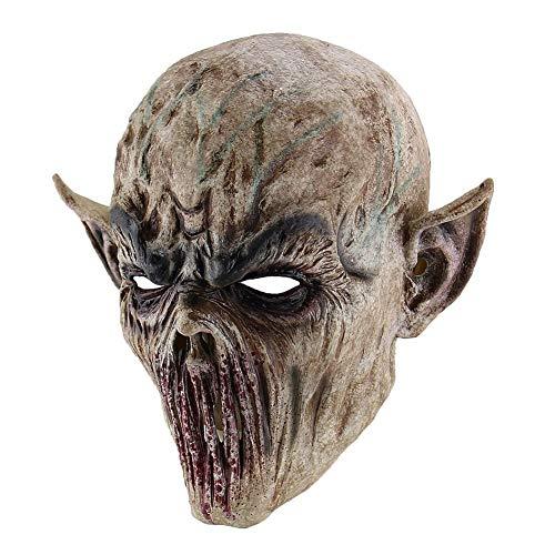 Weiße Kostüm Wanderer - BeneU Maske Halloween Cosplay Halloween Nacht könig Maske Geist Mann Scary Halloween Maske gruselig erschreckend Monster Maske Halloween Movie Party weiß Wanderer Maske kostüm Cosplay