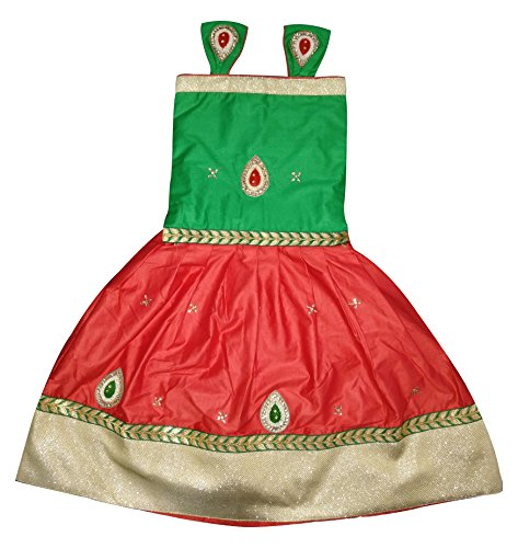 Cartyshop Baby Girl's Cotton Lehenga Choli (Green-12_Green_12-18 Months)