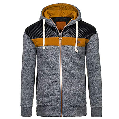 Setsail Herren Herbst Winter Fleece Strickjacke mit Kapuze Mode Warm Sweater Stilvoll und bequem Coat -