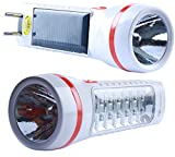 #2: Solar Rechargeable Flashlight Torch with 14 LED Emergency Light - DP 9109