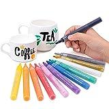 bianyo Art Acryl Paint Marker Set für Malerei auf Keramik, Glas, Holz, Stoff, Stein, Einband, Papier Karte 12 Colors