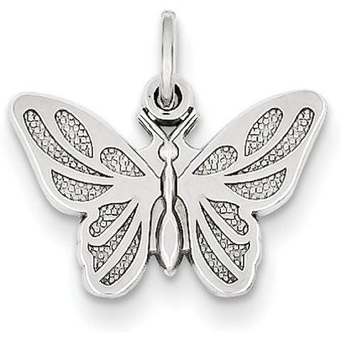 Icecarats Designer Di Gioielli In Oro 14K Bianco Farfalla Fascino