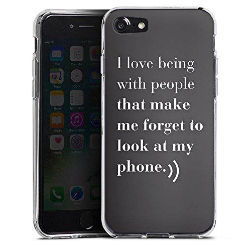 Apple iPhone X Silikon Hülle Case Schutzhülle Telefon Liebe Sprüche Silikon Case transparent