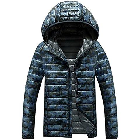 LvRao Hombre camuflaje chaquetas plumas de sport para invierno chaqueta de abrigo con capucha