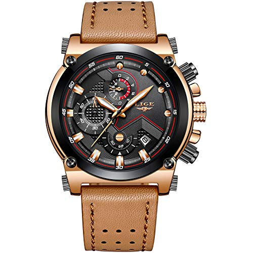 e4ec595fb1ea Relojes Hombre Relojes de Pulsera de Lujo Marea Cronometro Impermeable  Fecha Calendario Analogicos Cuarzo Relojes de