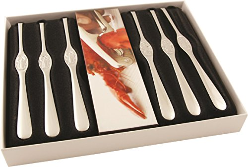 Hardanger Design Series Shellfish Set, Steel, Silver, 7-Piece