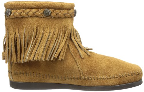 Minnetonka Hi Top Back Zip Boot 297T Damen Stiefel Beige (Taupe 7T)