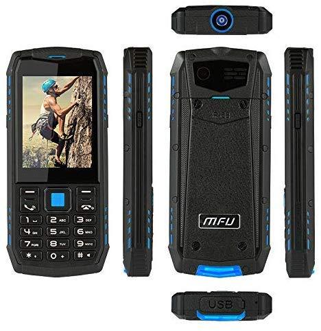 YHHK Senior-Knopf-Handy, Rugged Telefon Handy Entsperrt, IP68 Wasserdichter Shockproof Staubdichtes Große Taste 3G Super-Taschenlampe Geschenke Für Eltern Sim2 Multimedia