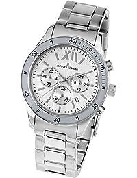 Jacques Lemans Sports Herren-Armbanduhr XL Rome Chronograph Edelstahl 1-1679B