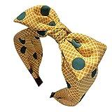 MIRRAY Frauen Schminken Stirnband Schleife Stoff Haarband Kopf Wickeln Rockabilly Haarband ZubehöR Gelb