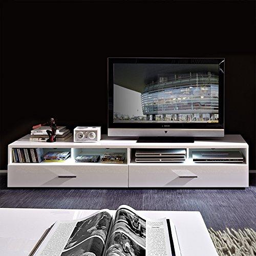 Wohnzimmer Set HATTAN258 weiß Hochglanz - 5