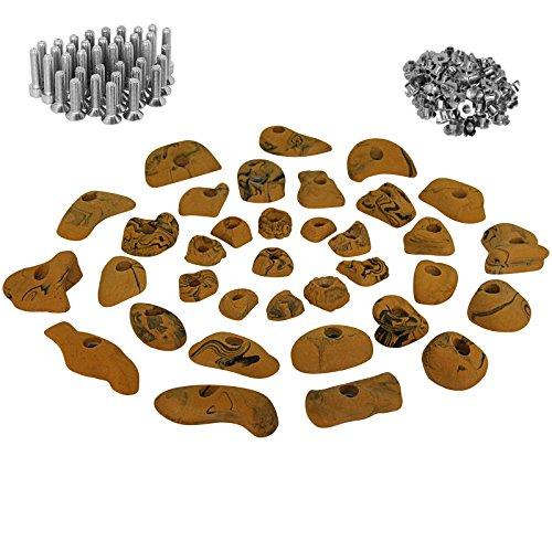 35 presas set de iniciación para niños, tornillos y 100 tuercas de inserción inclusive, Color:amarillo-moteado