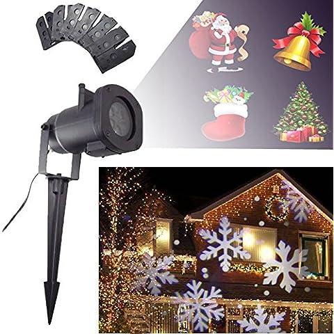 Natale Pasqua LED Proiettore Lampada Rotante Luce