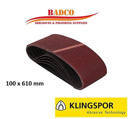 10-x-bandes-abrasives-100-x-610-mm-klingspor-ls307-x-grain-60-bois-metal-peinture-de-remplissage
