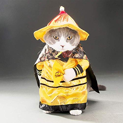 Dog Cat Clothes Costumes Funny Puppy Pet Clothes Shirts Dresses Outfit Coats Suit for Halloween Christmas Apparel (Color : E, Size : XL) (Funny Dog Outfit)