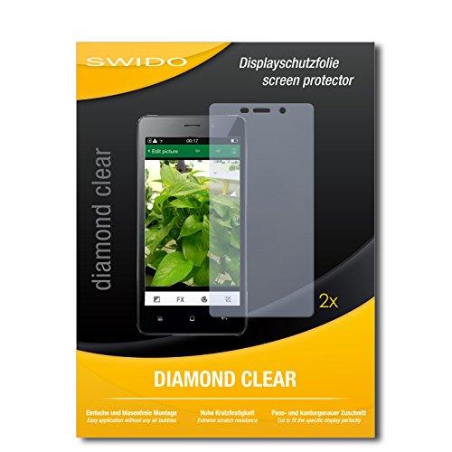 SWIDO 2 x Displayschutzfolie Oppo Joy 3 Schutzfolie Folie DiamondClear unsichtbar
